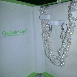 Freshwater pearls and 925 jewelry set